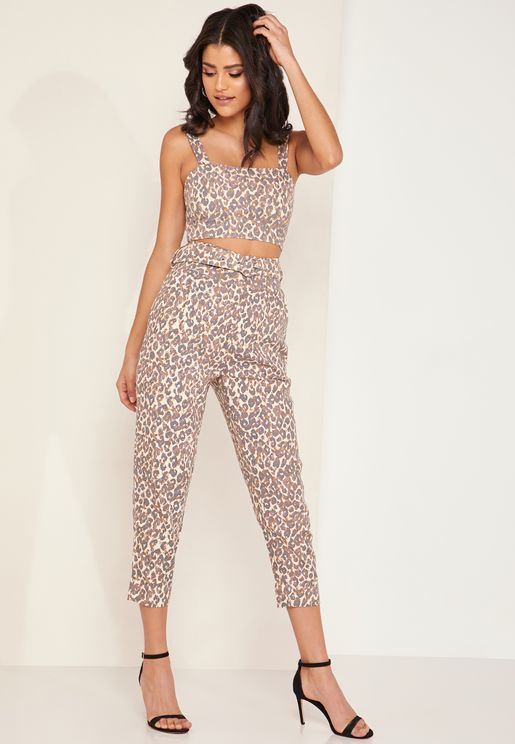 Juggle Animal Print Belted Pants
