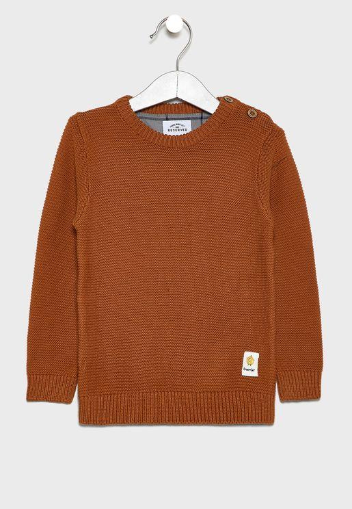 Infant Shoulder Button Sweatshirt