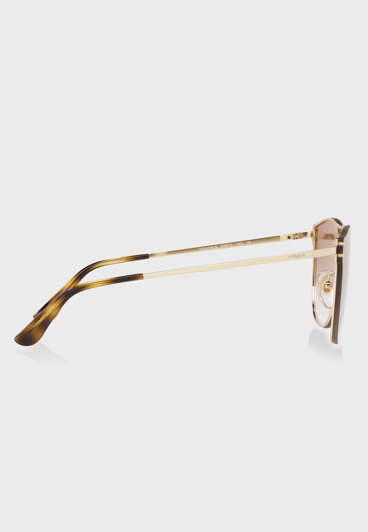 نظارة شمسية بجسر مزدوج
