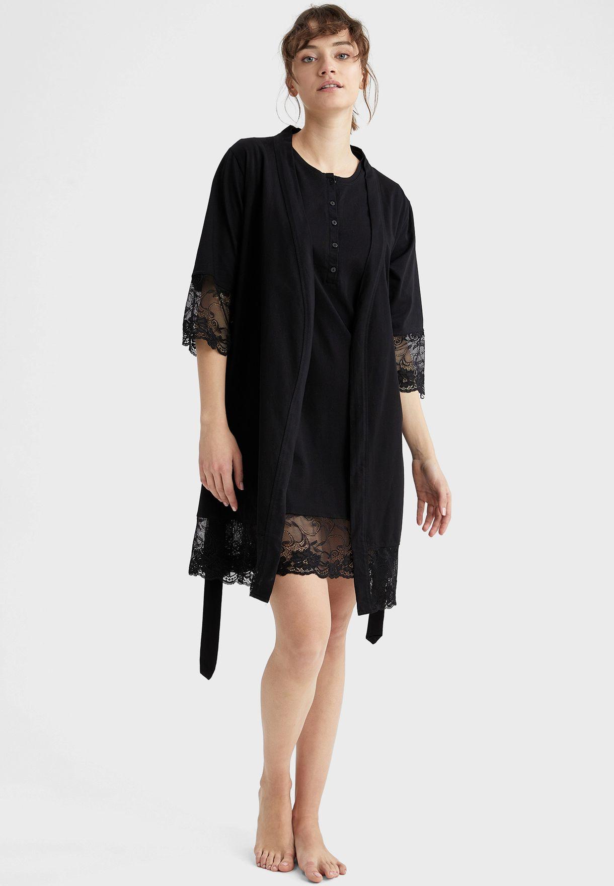 Button Detail Night Dress