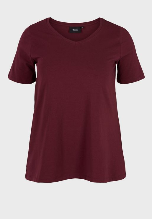 Crew Neck Flare T-Shirt