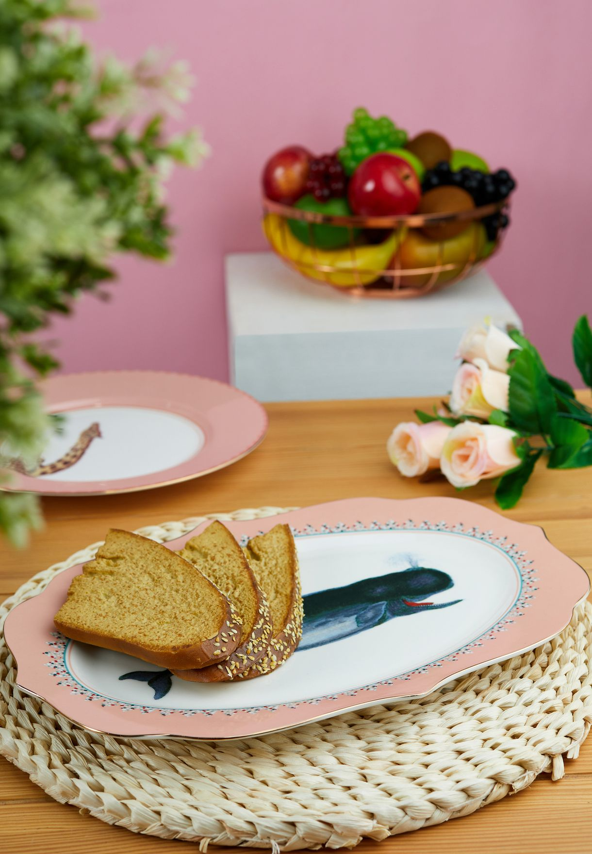 Platter Serving Plate Whale