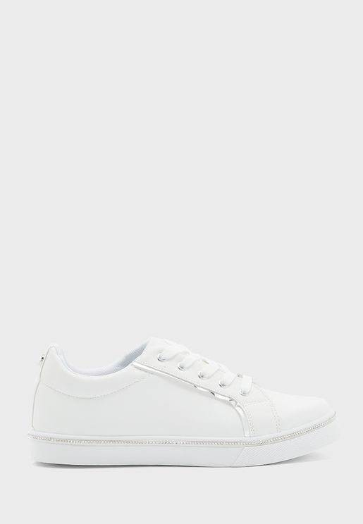 Metallic Trim Sneakers