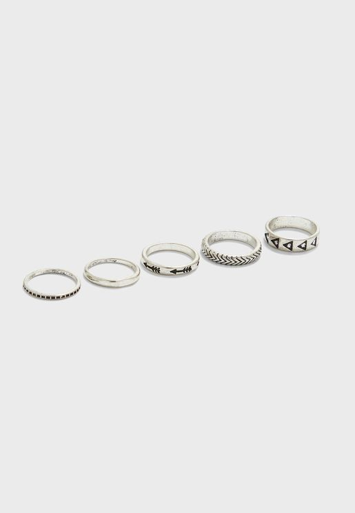 5 Pack Ring Set