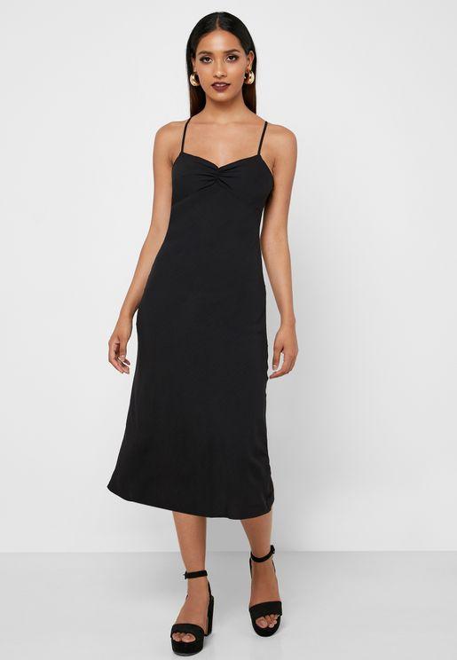 Ruched Detail Cami Strap Dress