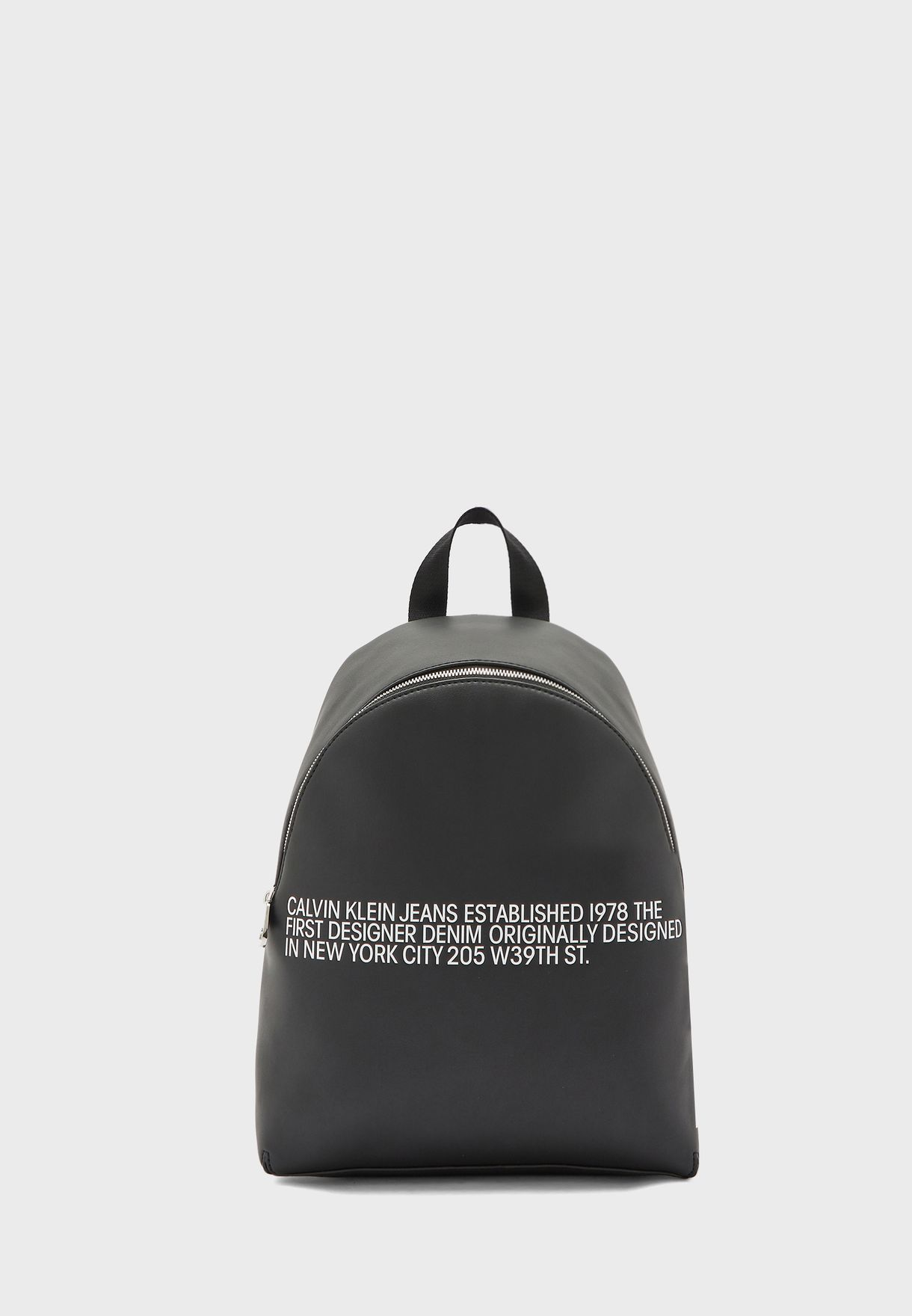 Top Zip Slogan Backpack