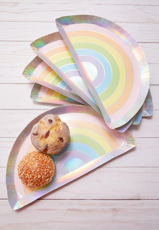 Pastel Rainbow Plate 8 Pack