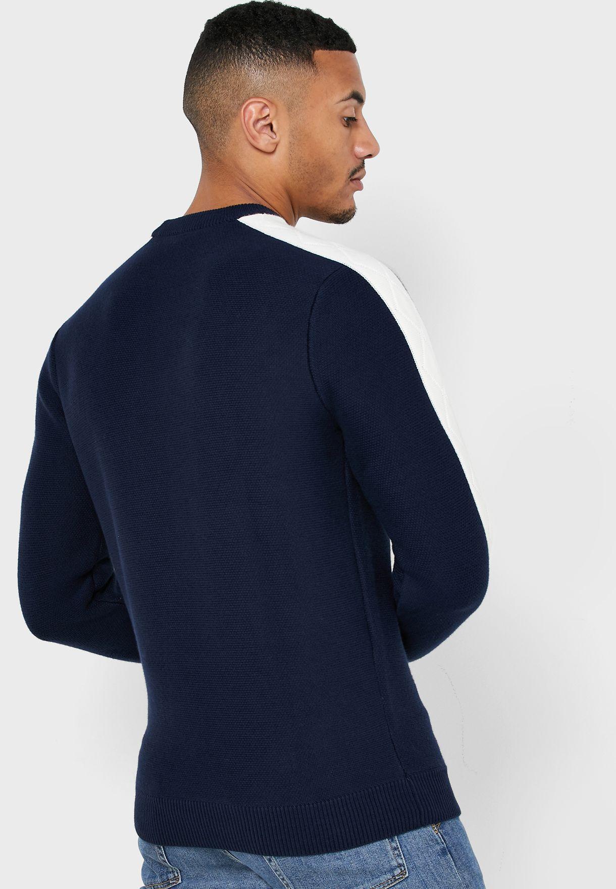 Paneled Sleeve Sweater