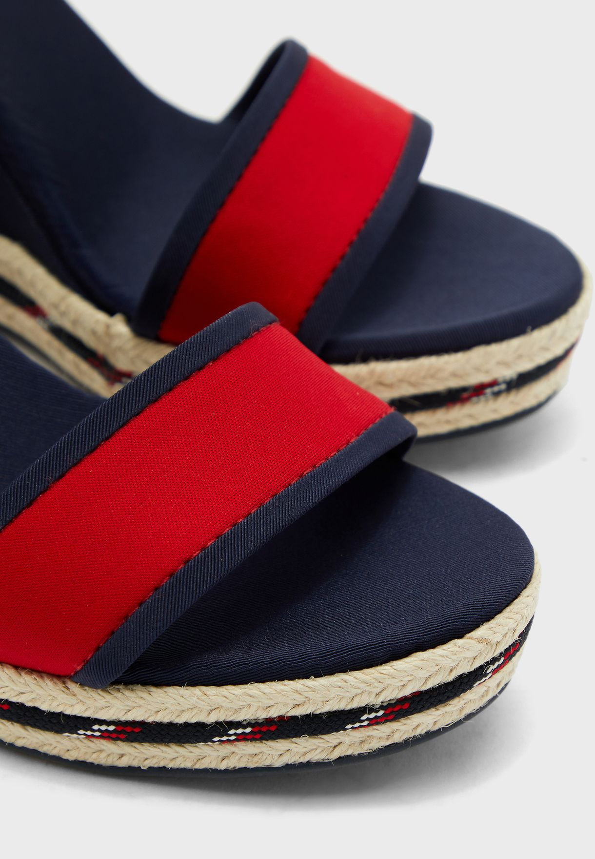 Textile High Wedge Sandal - DB9