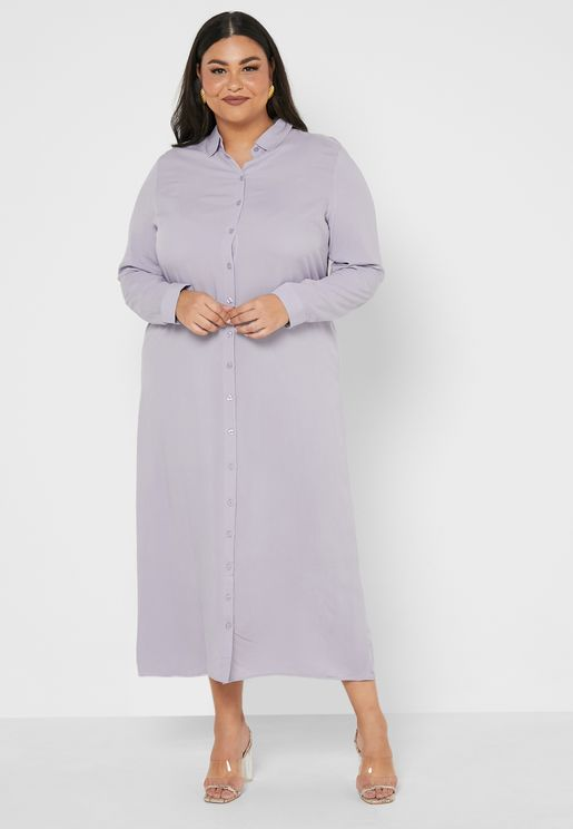 Unlined Point Collar Dress