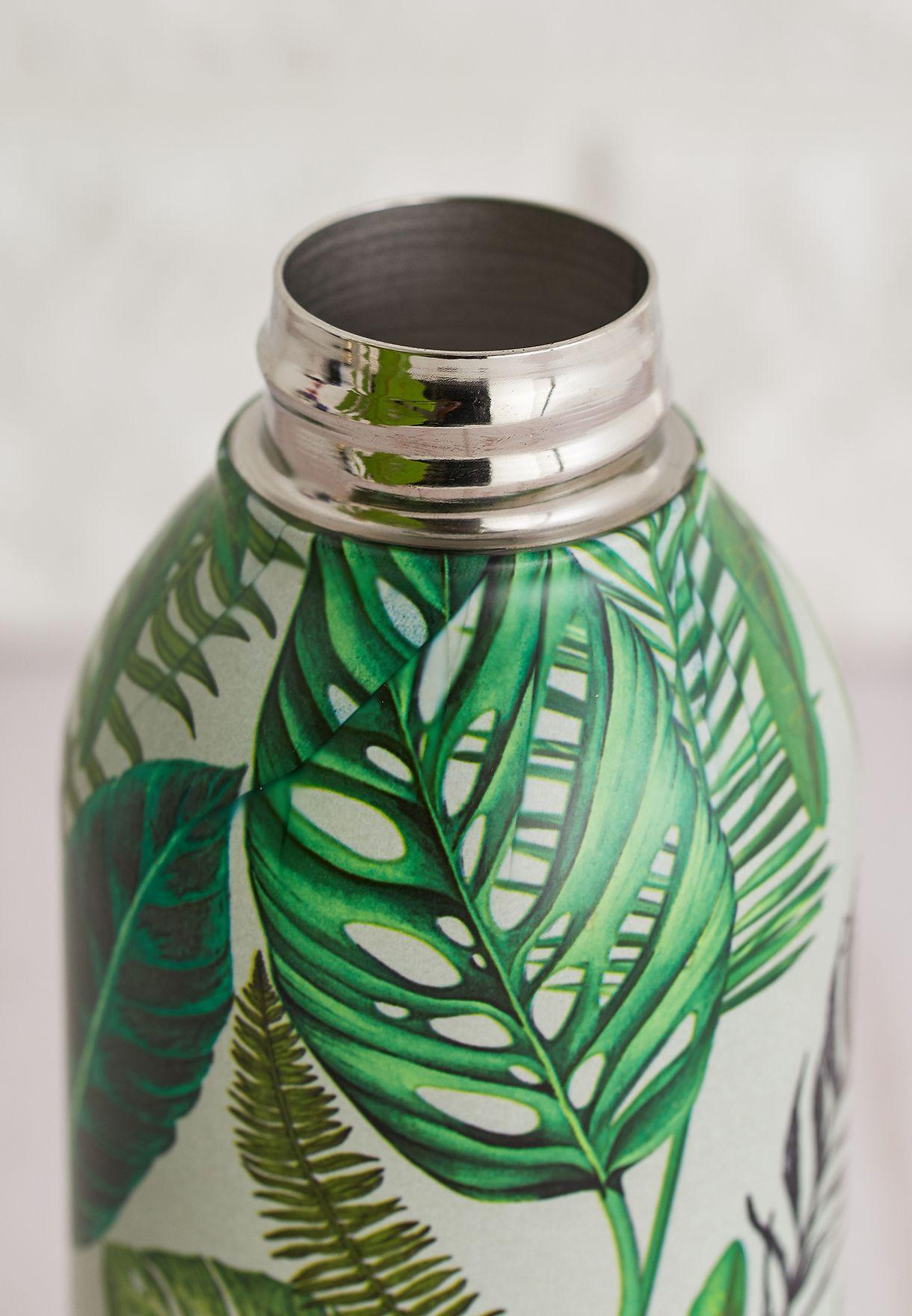 Mini Metal Tropical Print Water Bottle