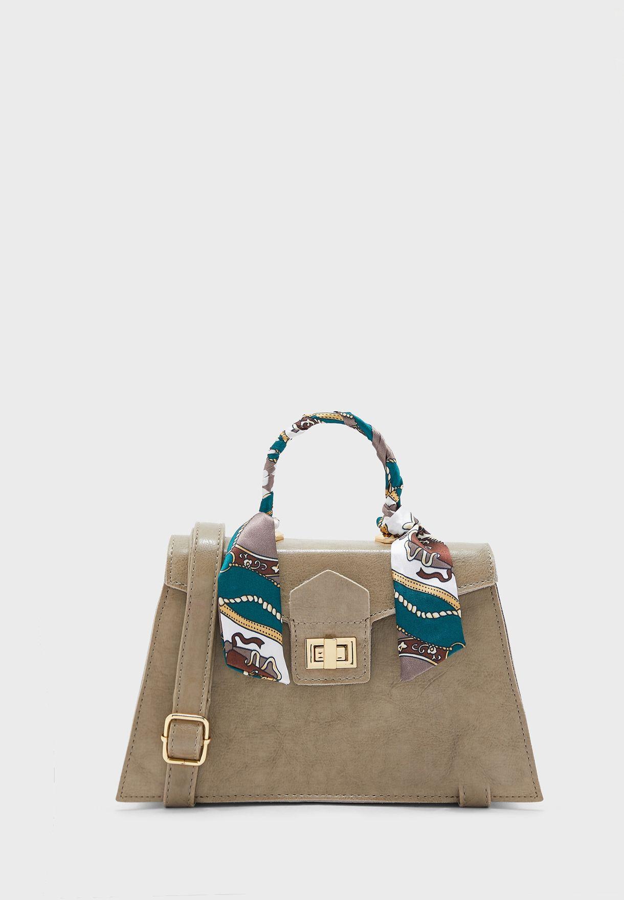 Scarf Tie Detail Handbag