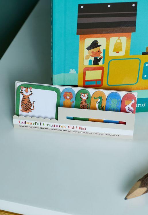 Colourful Creatures Mini Memo Pads
