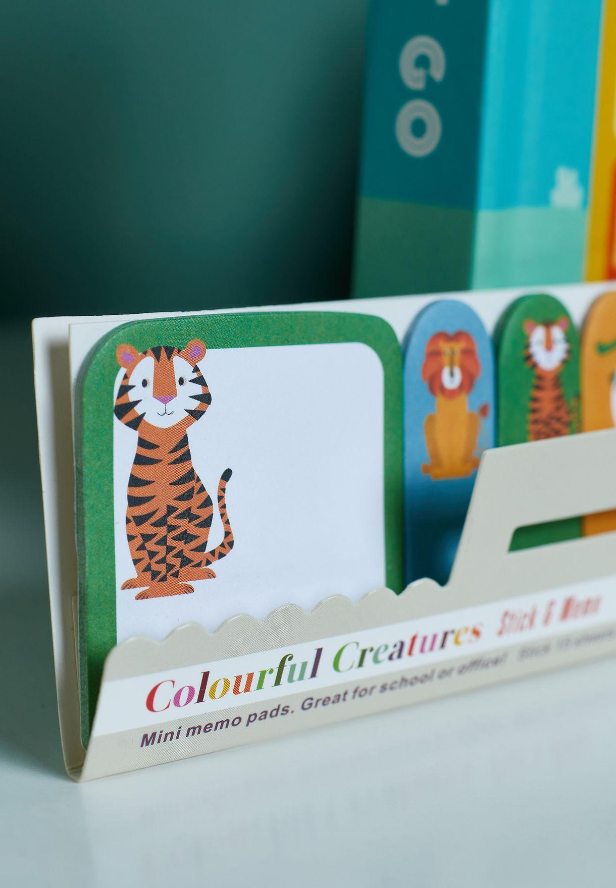 دفاتر ملاحظات صغيرة بشخصيات ملونة