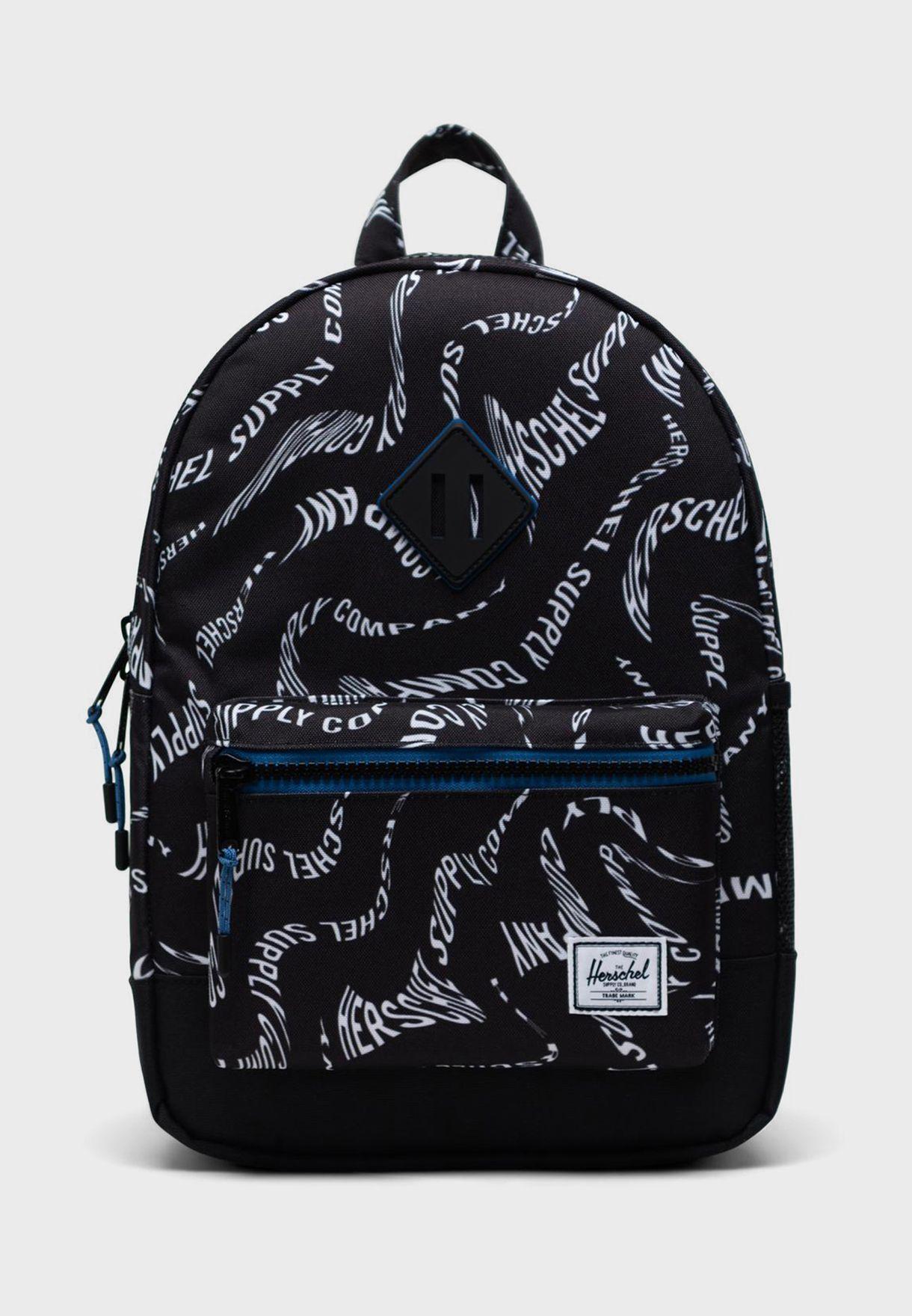 Youth Logo Print Backpack