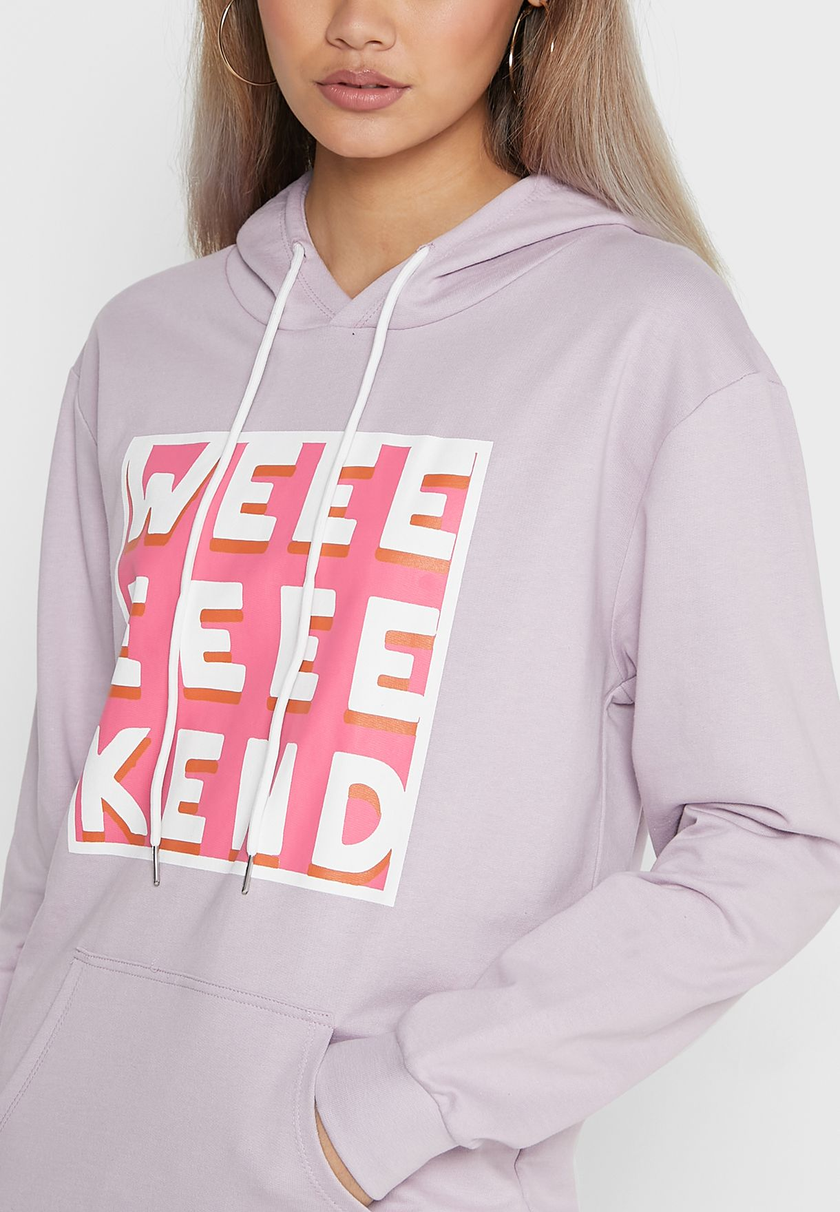 Hoodie With Front Print