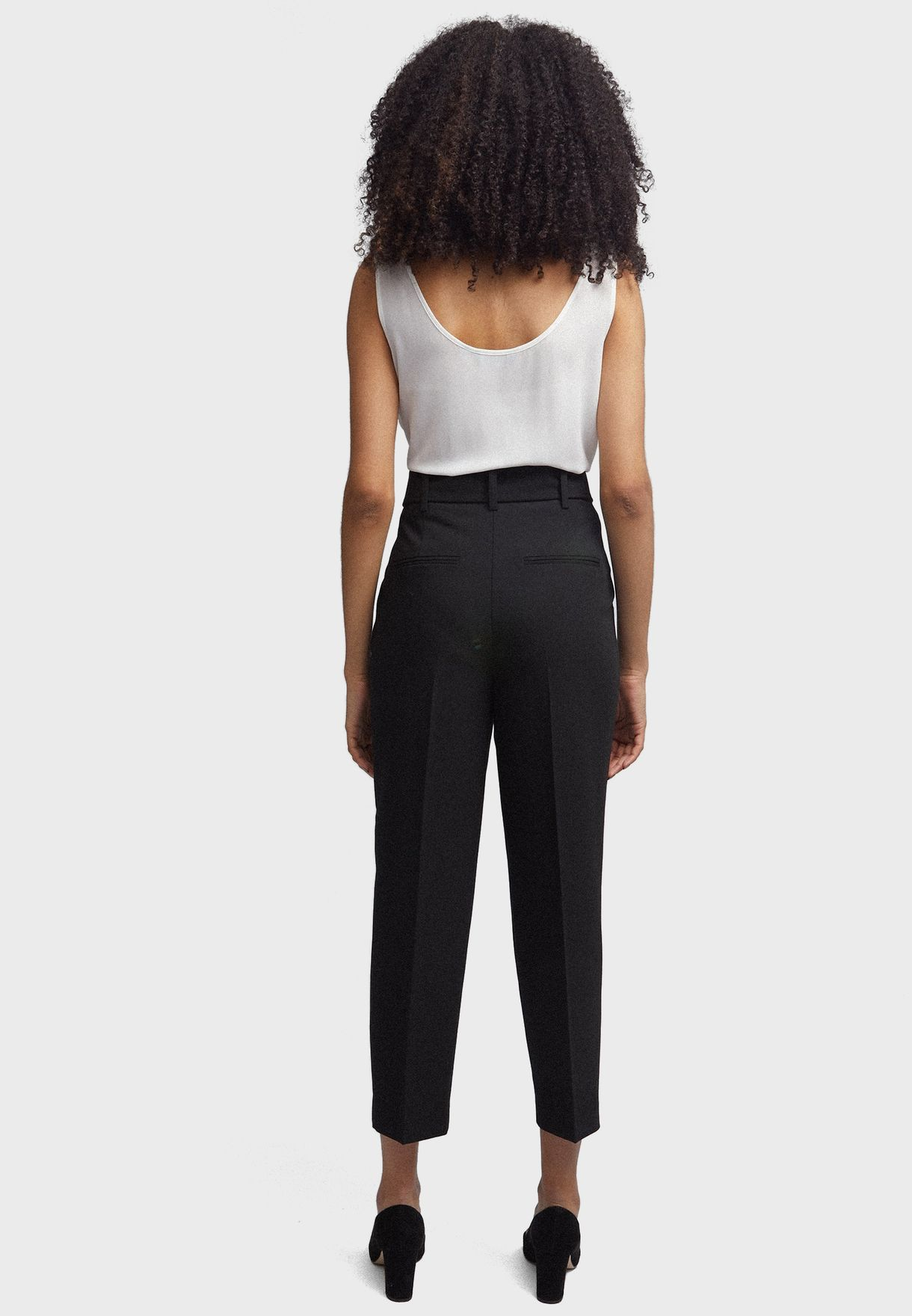 Belted Tapered Pants