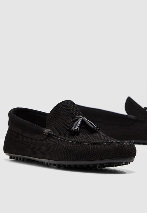 Mansfield Embossed Driver Loafers