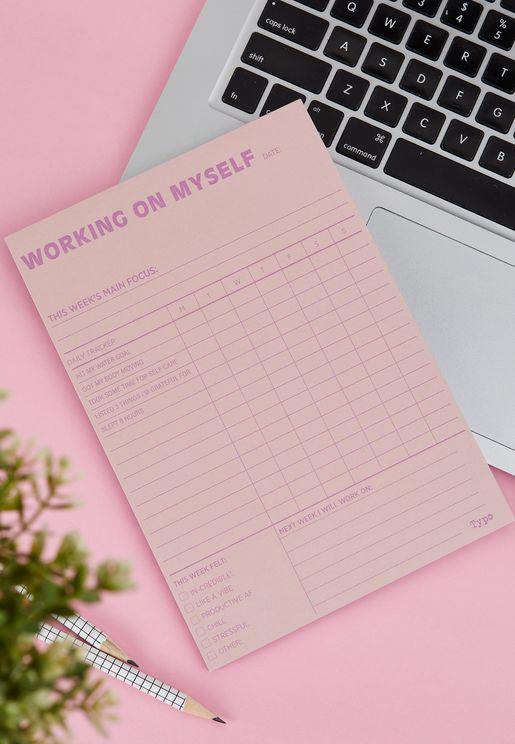 A5 Work On Myself Wellness Planner