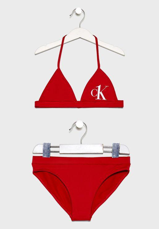 Kids Triangle Bikini Set