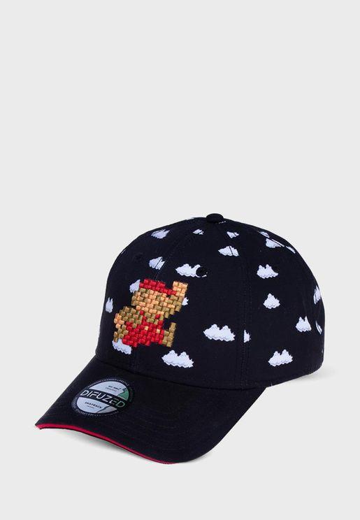 Mario Curved Peak Cap