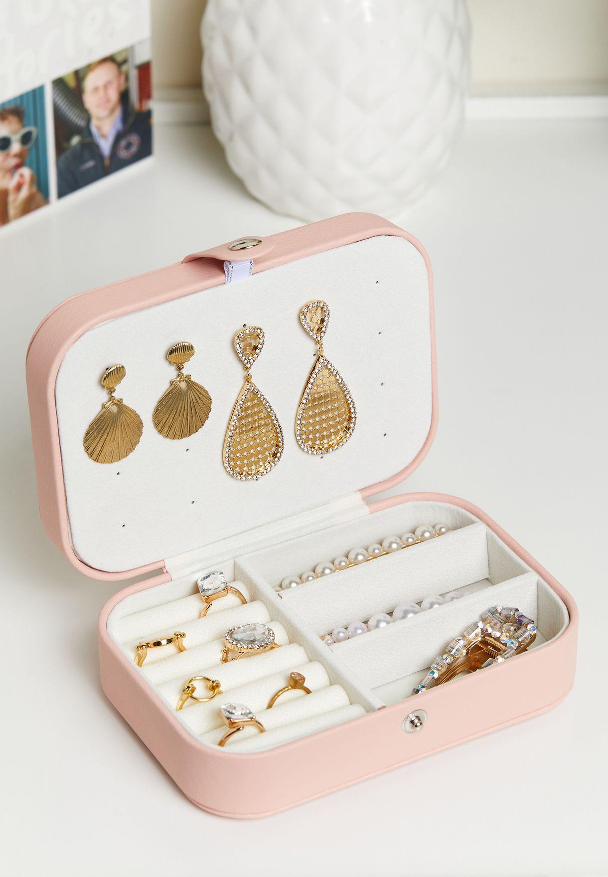 صندوق تخزين مجوهرات بسحاب