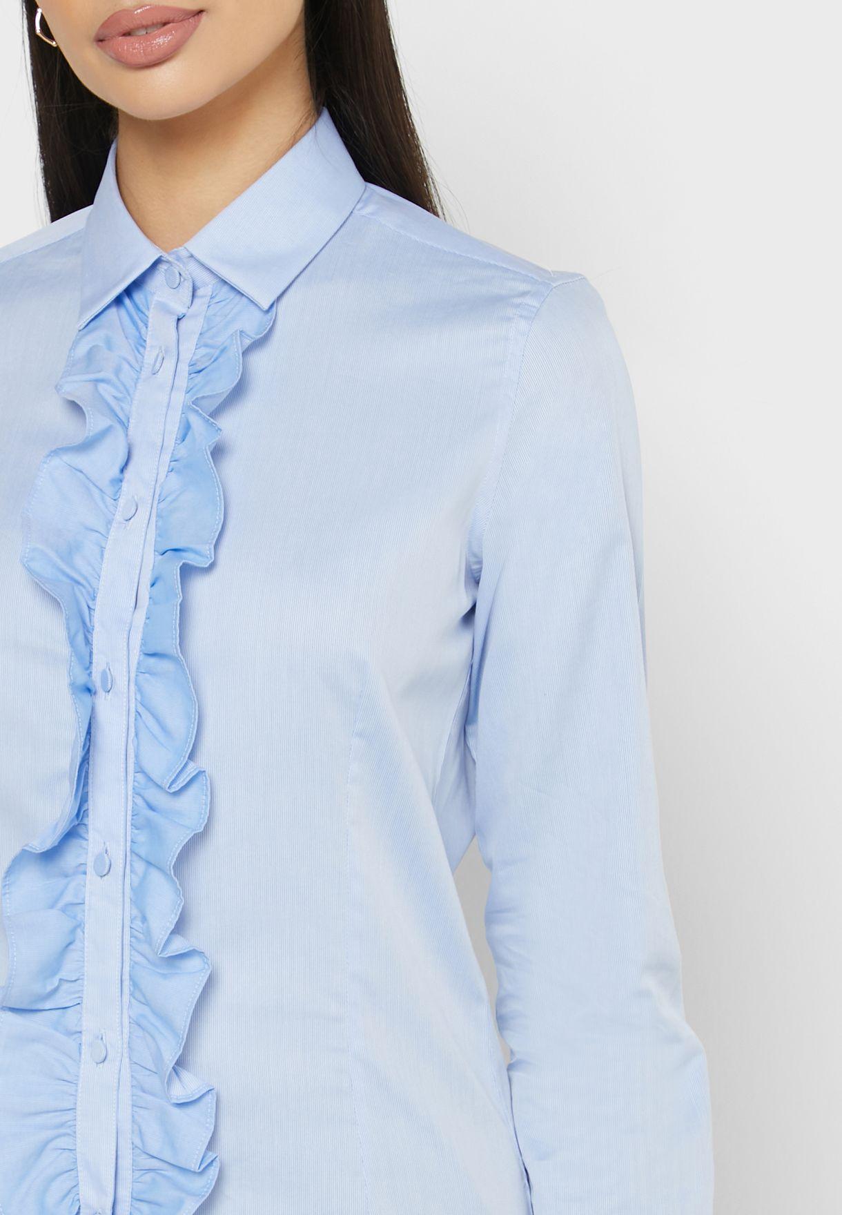 قميص باطراف كشكش