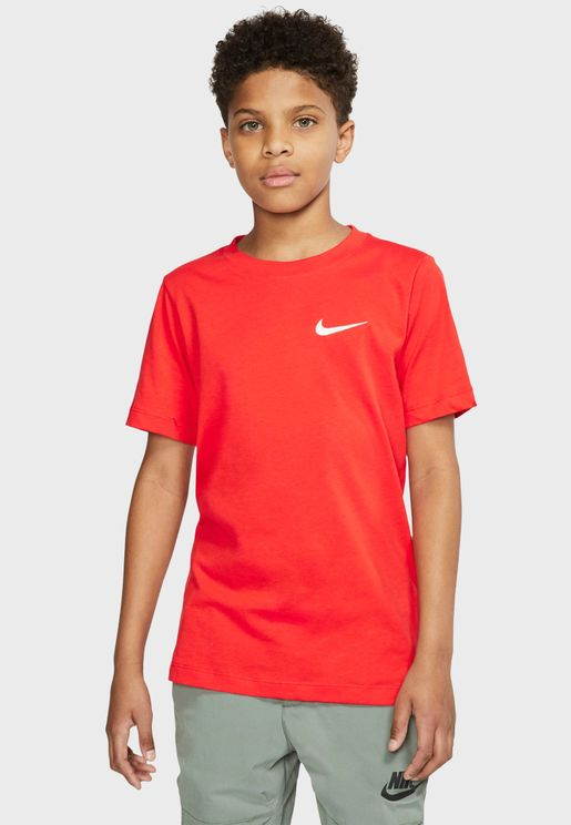 Youth Embroidery Swoosh T-Shirt