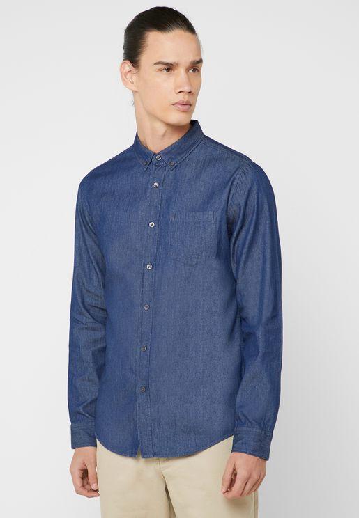 Dark Wash Denim Shirt
