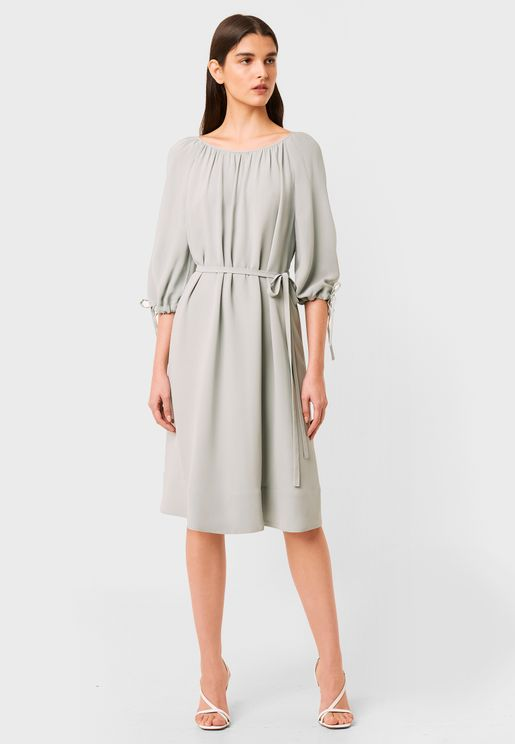 Alem Tie Sleeve Dress