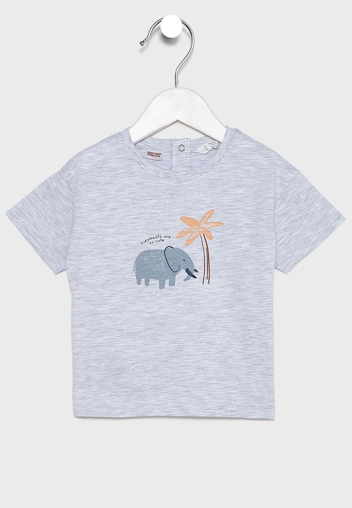 تيشيرت بطبعة فيل