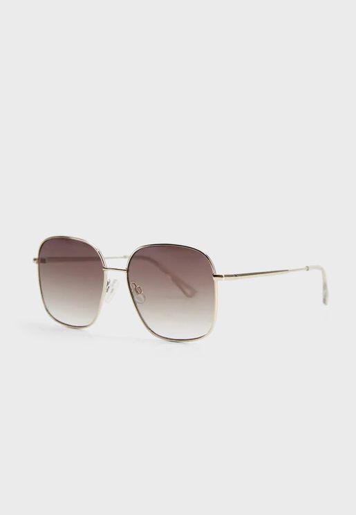 Rachel Metallic Frame Sunglasses