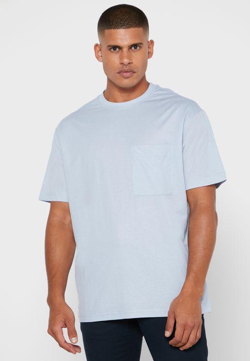 Essential Pocket Detail Crew Neck T-Shirt