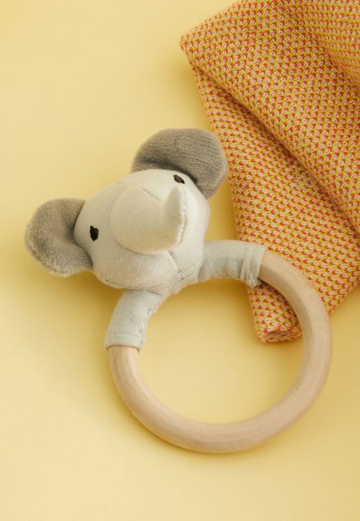 Elephant Ring Rattle Toy