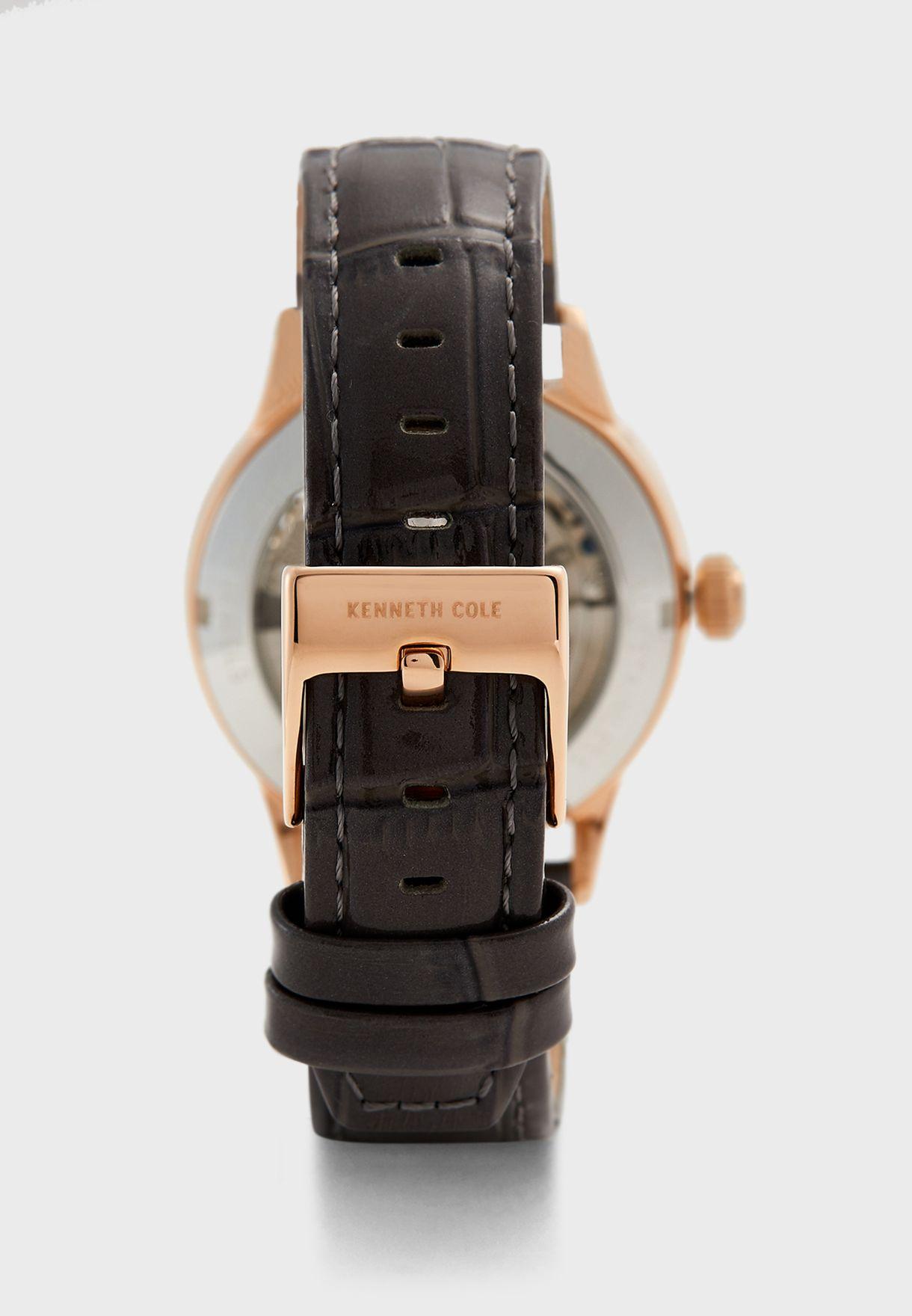 ساعة بحزام من الجلد الاصلي