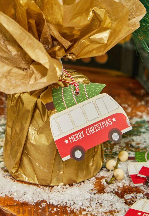 6 Pack Christmas Camper Van Gift Tag