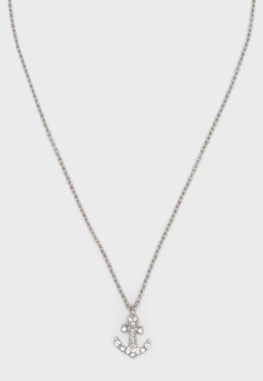 Anchor Charm Pendant Necklace
