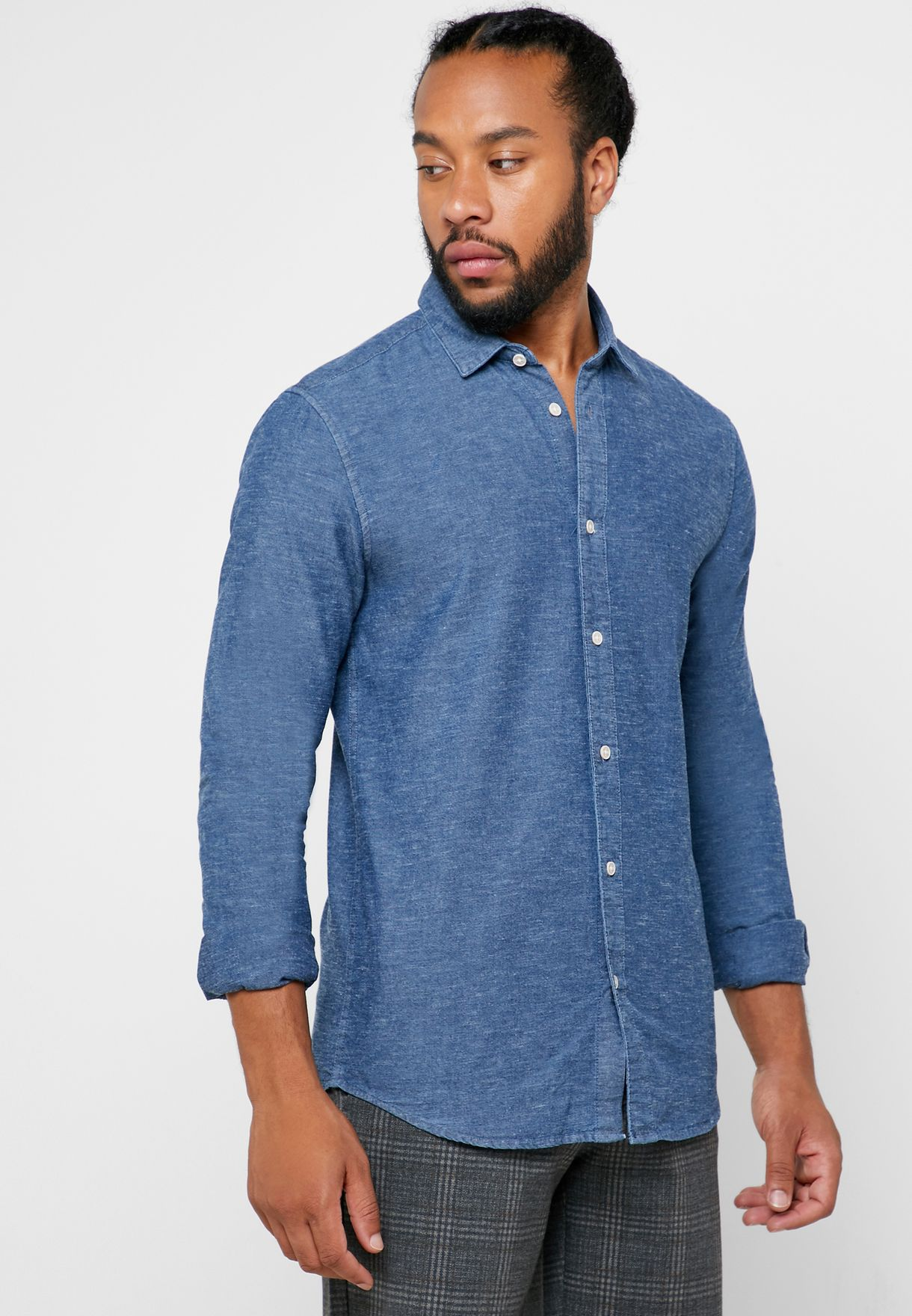 Ted  Slub Chambray Shirt