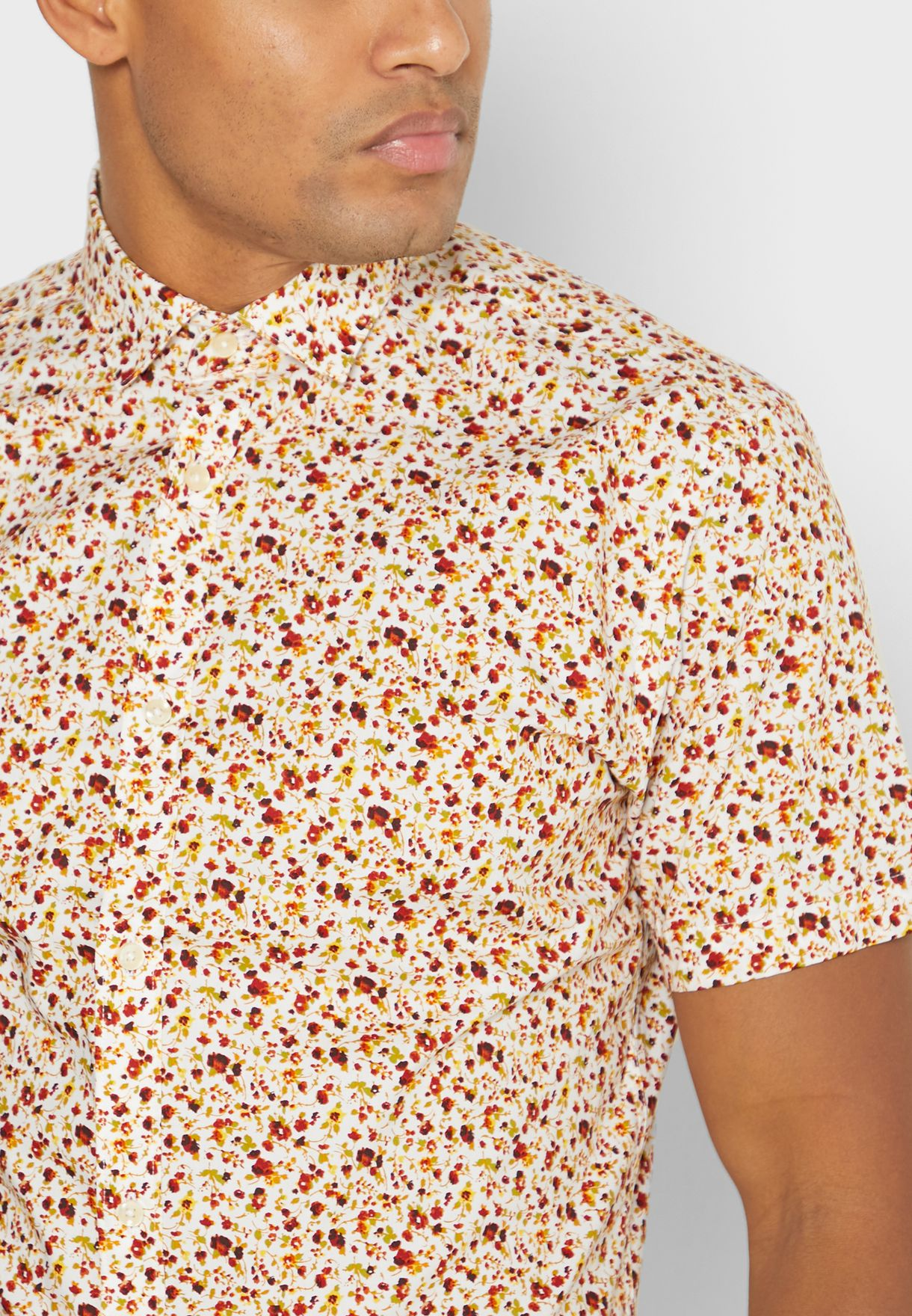 قميص سليم فت بطبعات ازهار