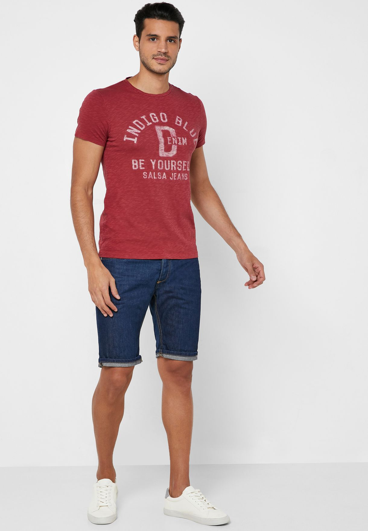 Be Yourself Slim Fit Crew Neck T-Shirt
