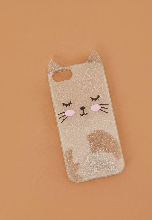 Glitter Cat iPhone 6/7/8 Case