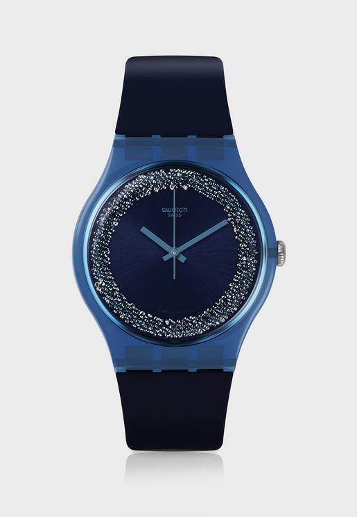 ساعة بحزام من السيليكون