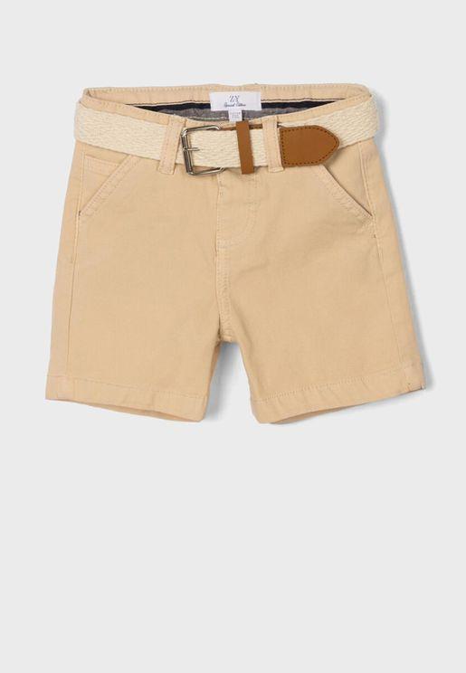 Infant Belted Shorts