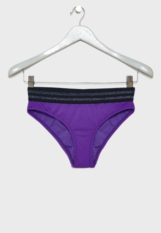 Striped Waist Bikini Bottom