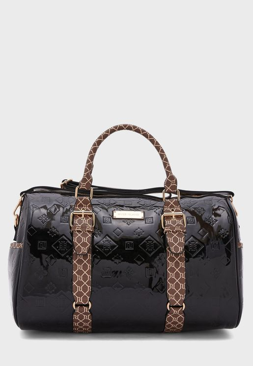 Embossed Double Handle Shopper