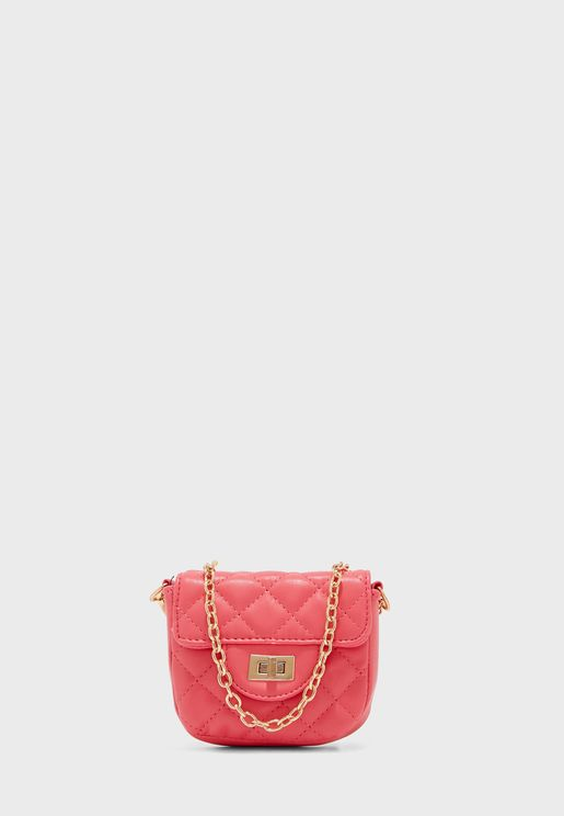 Quilted Mini Crossbody With Chain Strap