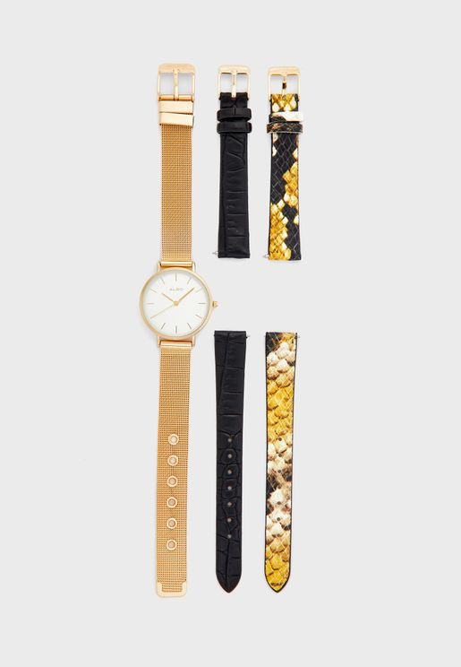 Foel Multi Strap Analog Watch