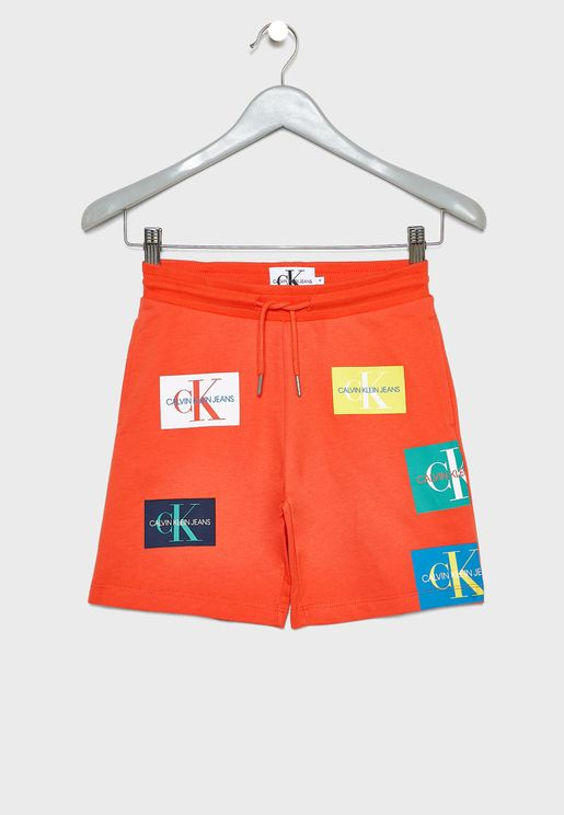 Kids Monogram Sweat Shorts