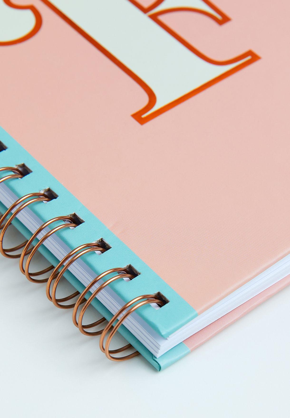A5 Reversible English & Arabic Monogram Notebook - F