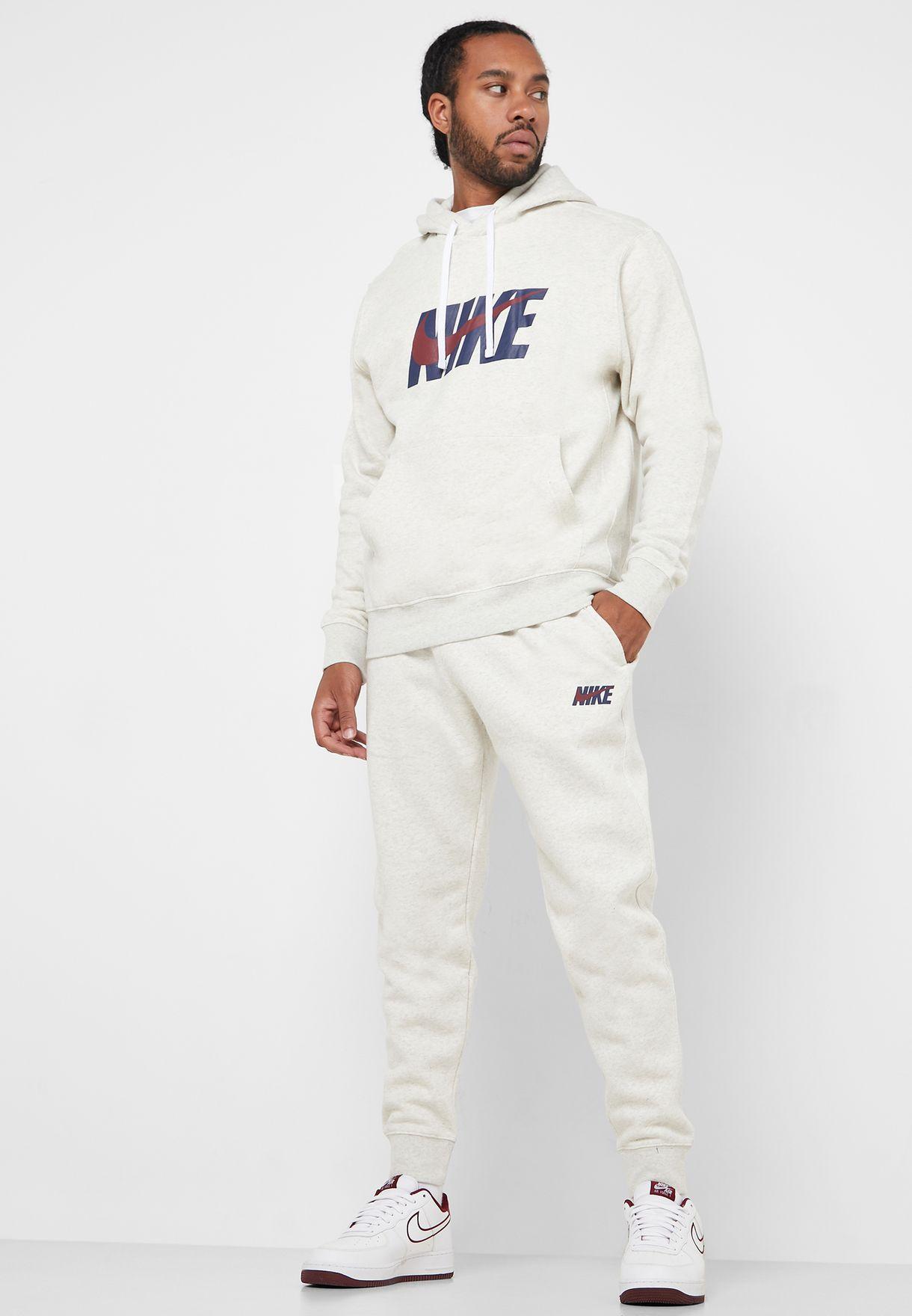 NSW Fleece Graphic Hoodie + sweatpants set
